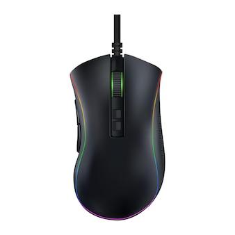 Mouse de computador moderno em fundo isolado. ilustração vetorial