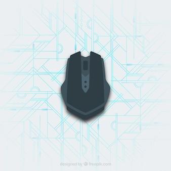 Mouse de computador plano