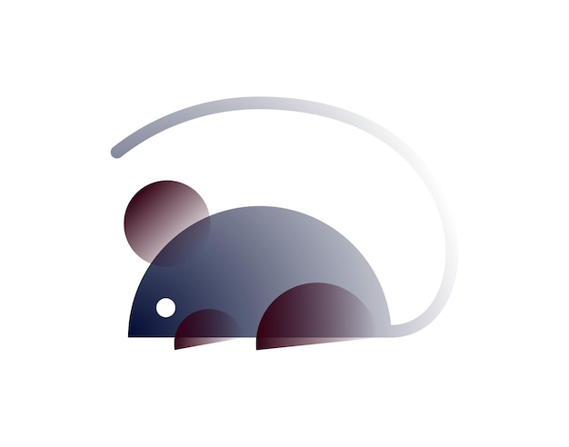 Mouse de vetor em estilo gradiente. arte digital