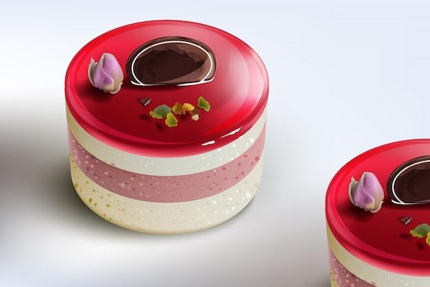Mousse de bolo de berry