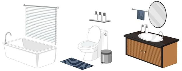 Móveis de banheiro isolados