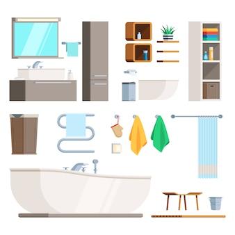 Móveis e equipamentos para banheiro