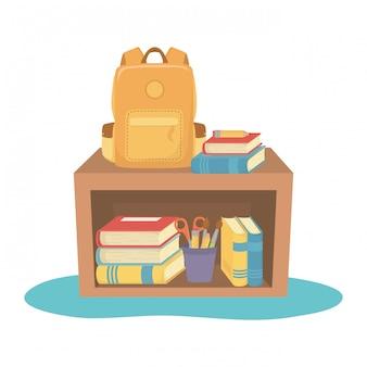 Móveis e material escolar