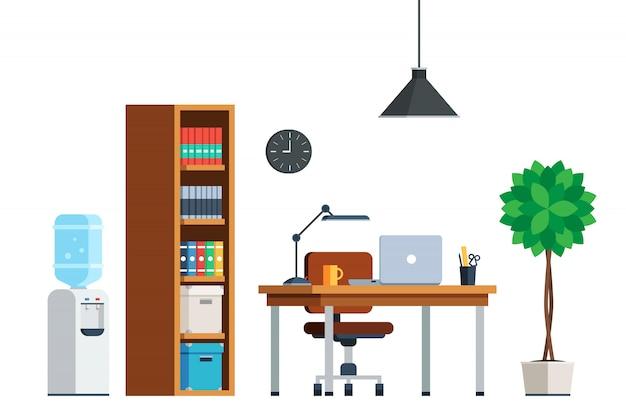 Móveis internos para local de trabalho
