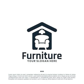 Móveis para casa, inspiração para o design de logotipos