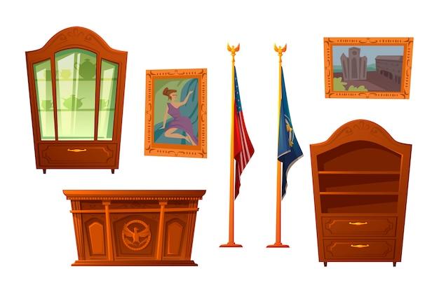 Móveis para o local de trabalho do presidente dos eua
