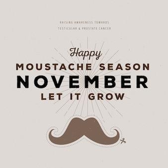Movember bigode design