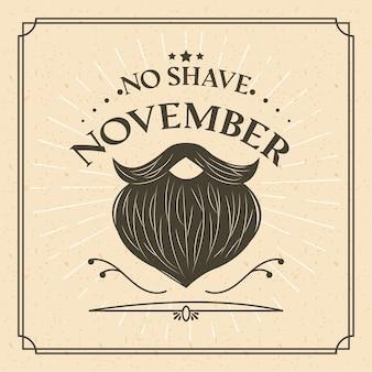 Movember conceito com design vintage