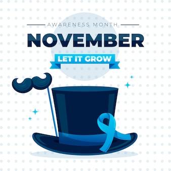 Movember conceito em design plano