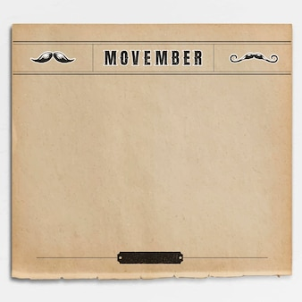 Movember design de moldura vintage