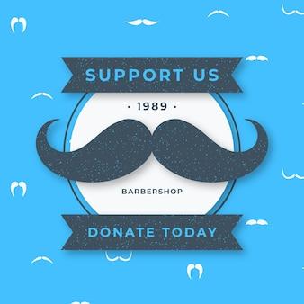Movember design plano doar plano de fundo