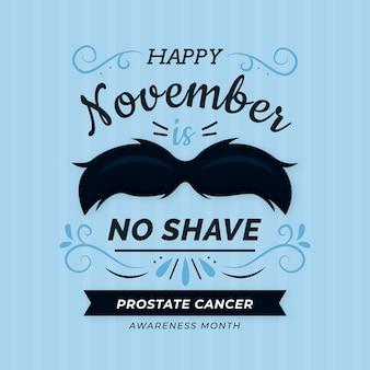 Movember design plano papel de parede sem barba