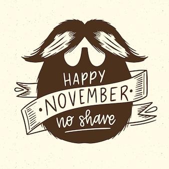 Movember feliz com barba hipster