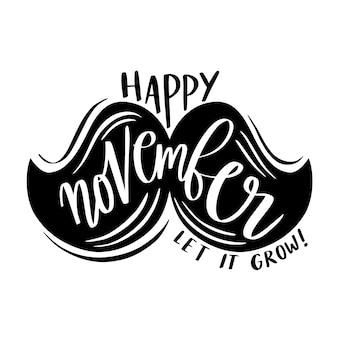 Movember fundo com letras