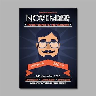 Movember insecto do evento