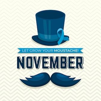 Movember plano de fundo com fita