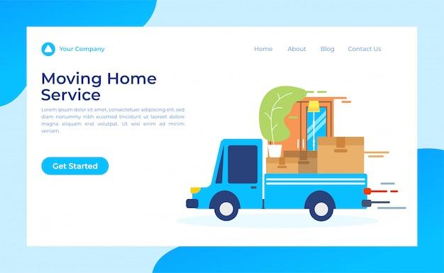 Movendo a página de destino do serviço doméstico