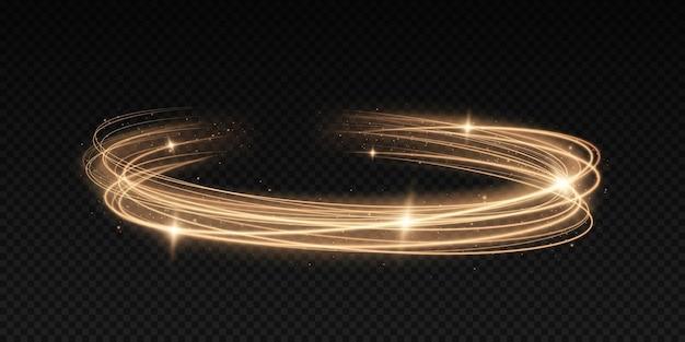 Movimento abstrato linhas mágicas elemento de design de onda dourada de cor brilhante