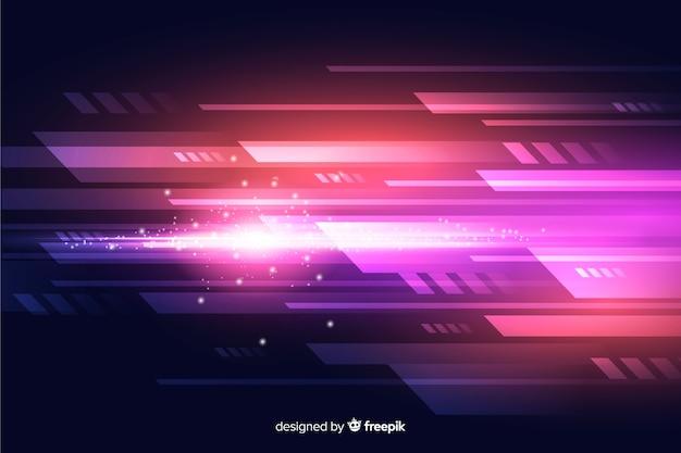 Movimento de luz de fundo abstrato