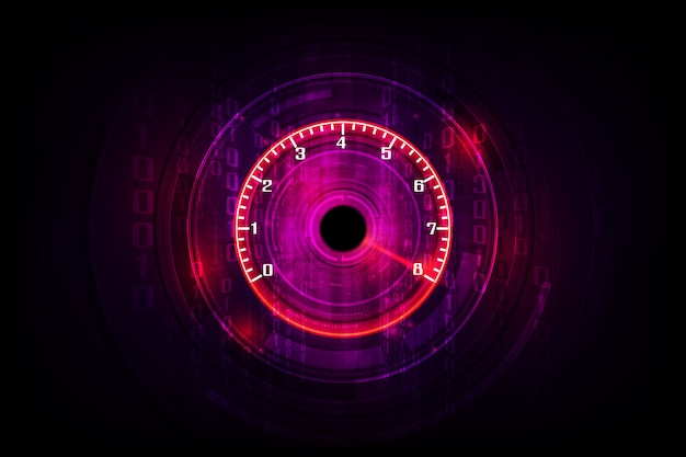 Movimento de velocidade com o carro do velocímetro rápido. fundo de velocidade de corrida.