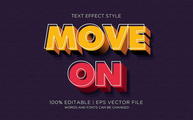 Movimento dos efeitos do texto