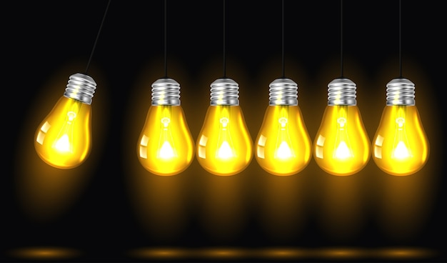 Movimento perpétuo com lâmpadas