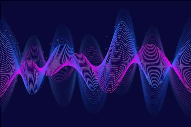 Movimento violeta e azul de fundo ondulado