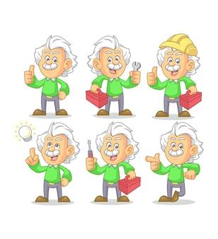 Mr. einstein mascot design