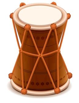 Mridangam tambor de madeira duplo indiano