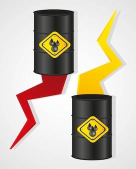 Mudanças no custo da ilustração do vetor de óleo