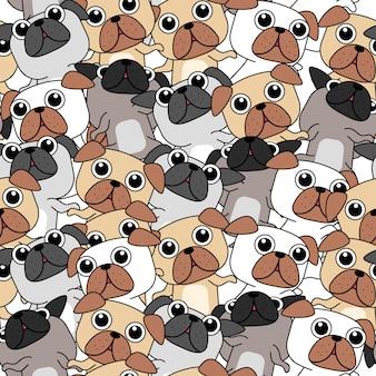 Muitos cães padrão.
