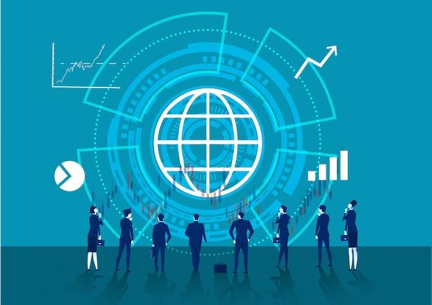 Muitos negócios olham para as setas do gráfico.