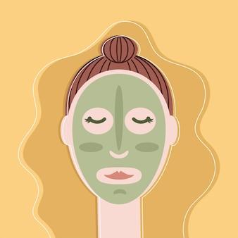 Mulher aplica máscara de argila