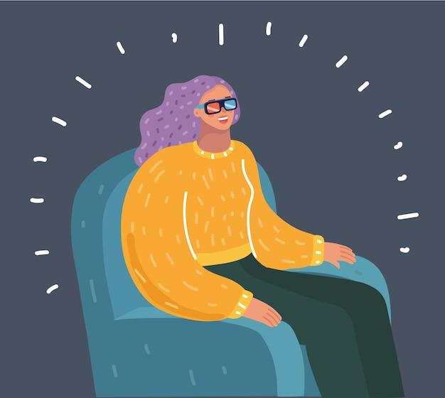 Mulher assistindo filme