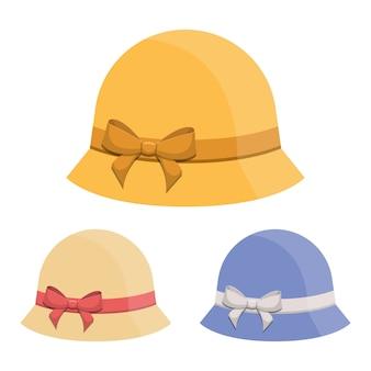 Mulher chapéu retrô vector design ilustração isolada no branco