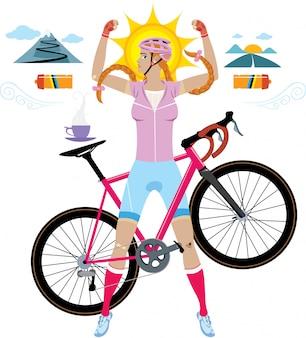 Mulher ciclista