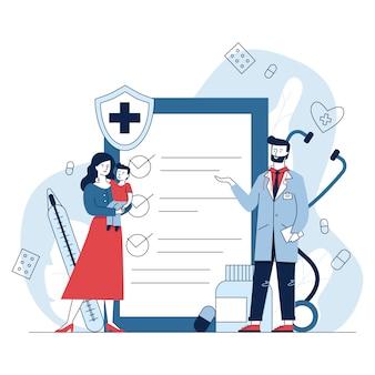 Mulher com médico de consultoria de criança