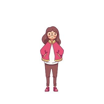 Mulher, com, pano vermelho