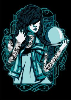 Mulher com tatuagem