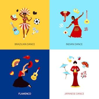 Mulher, dançar, conceito