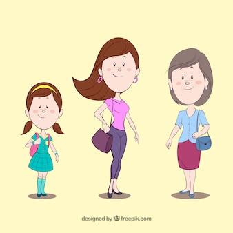 Mulher de diferentes idades