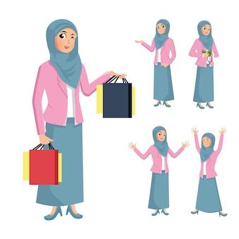 Mulher de hijab ilustração
