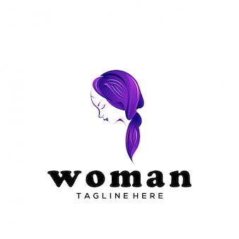 Mulher de logotipo de vetor