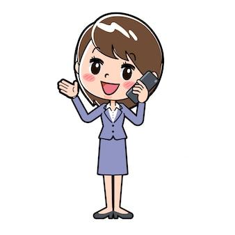 Mulher de negócios de linha