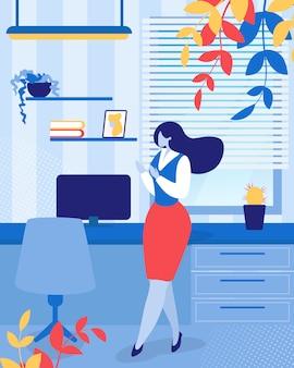 Mulher de negócios ou secretária de trabalhador de escritório