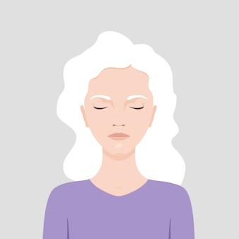 Mulher de olhos fechados