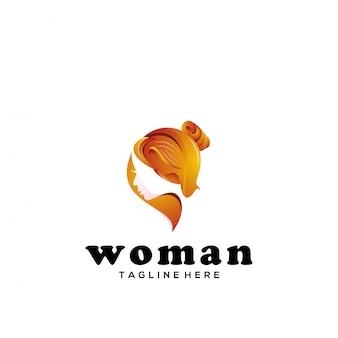 Mulher de vetor de logotipo