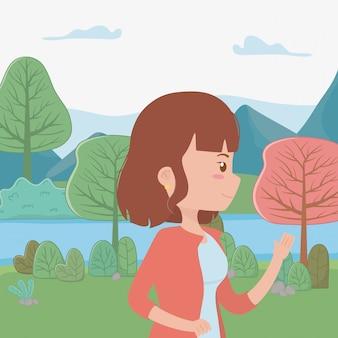 Mulher dos desenhos animados