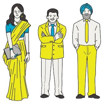 Mulher e empresário indiano