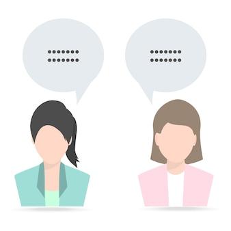 Mulher e mulher com fala